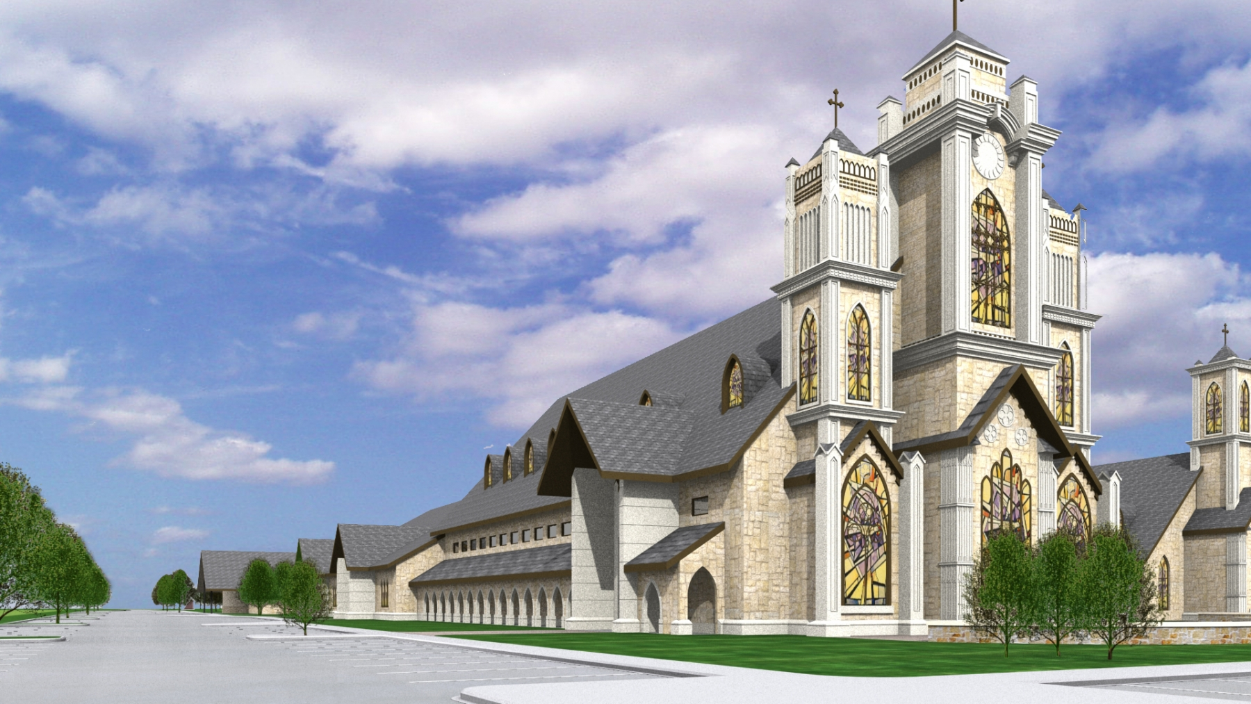 Interior church architecture designer